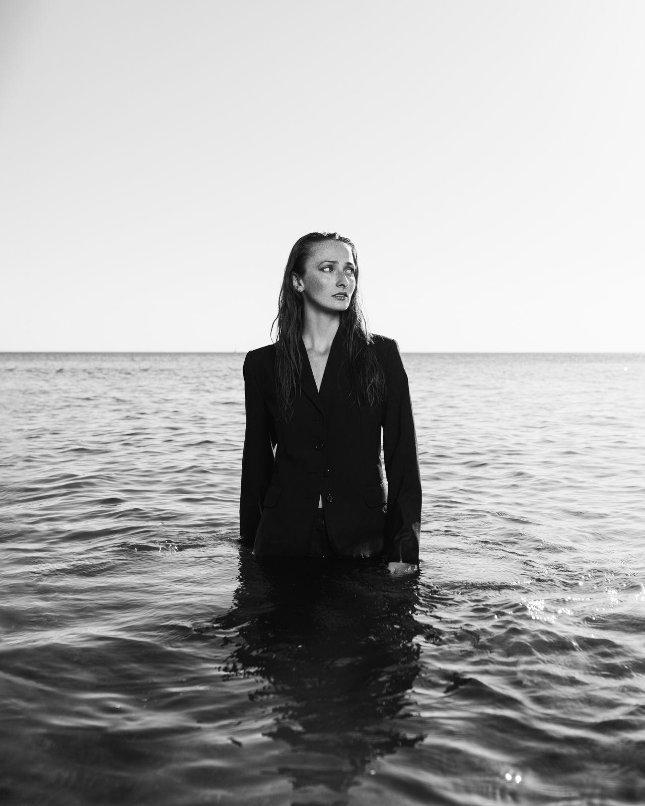 photo de mélissa à la mer