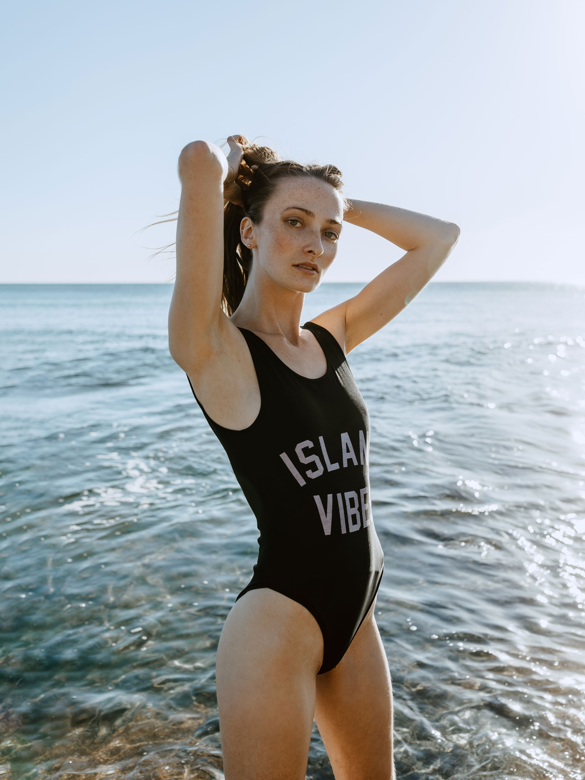 portrait maillot bord de mer