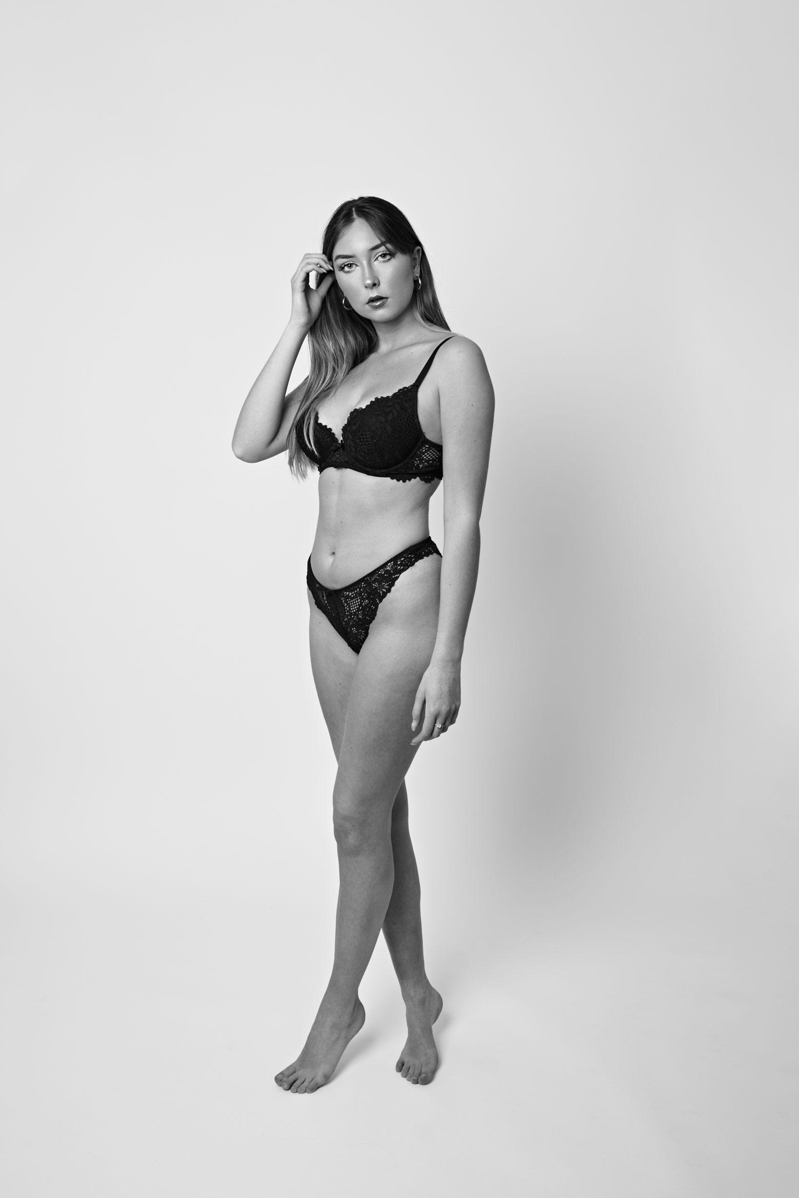 portrait lingerie studio Nantes